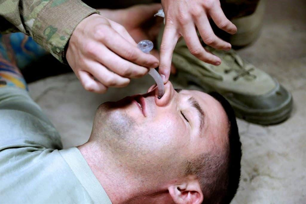 Insertion of nasopharyngeal airway