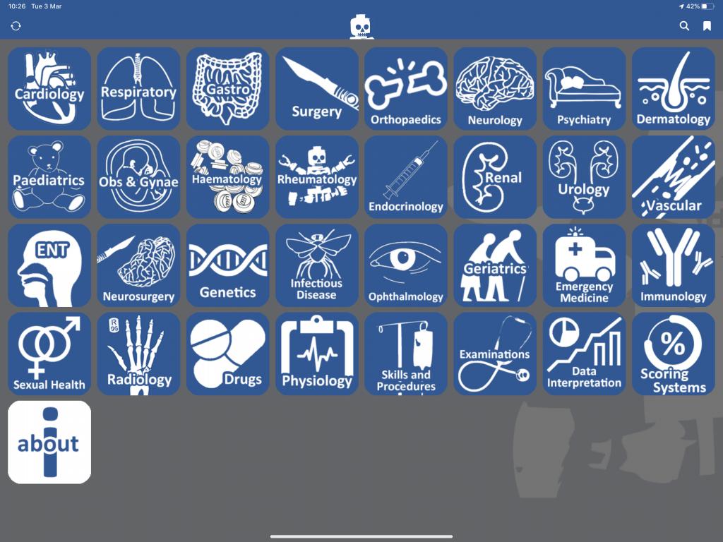 Almostadoctor iPad app screenshot