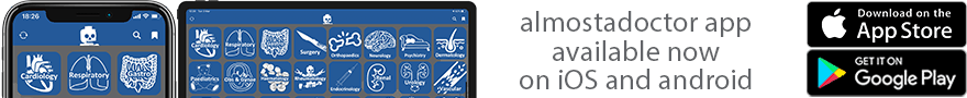 almostadoctor app banner for android and iOS